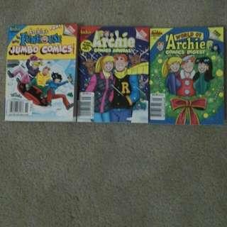 Three Amazing Comics! Archie Comics!