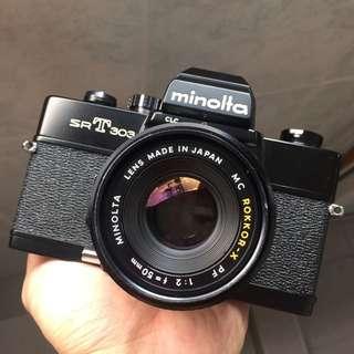 *RARE*Minolta SRT 303 Film SLR(FREE Lens)