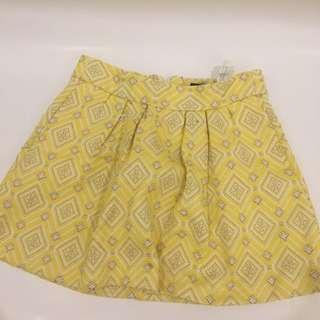 Zara Yellow Knit Skirt