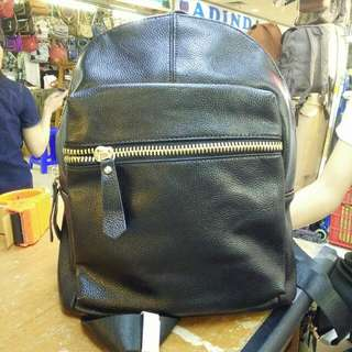(NEW)Black leather bag