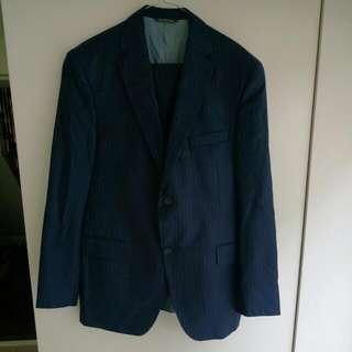 Men's Barney's New York Navy Pin-striped Suit