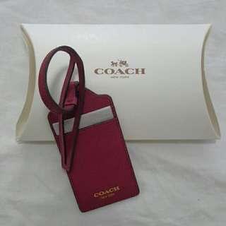 Authentic COACH Leather Luggage/Handbag Tag