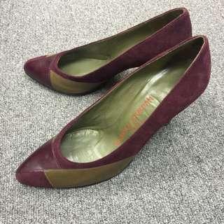Charles Jourdan 棗紅色高跟鞋 #36 High Heels