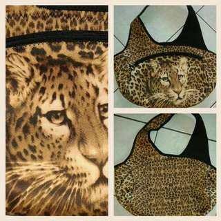 Leopard print Neoprene Hobo Large Bag (very spacious) Authentic Unique Frm Japan Used once NO flaws