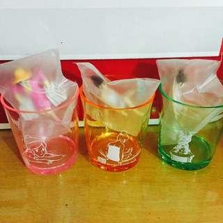杯緣子 溫泉 彩色杯子