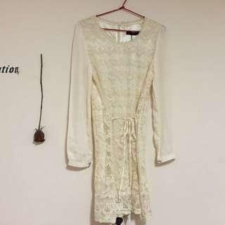 White Lace Dress Size M