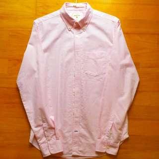 Gap 「全新」粉色素面牛津布襯衫 M