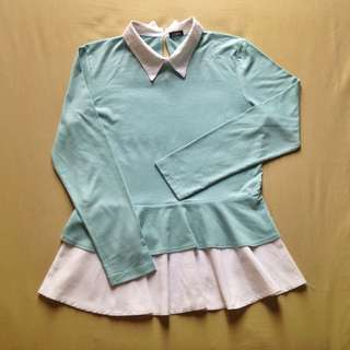 Mint Ballerina Top