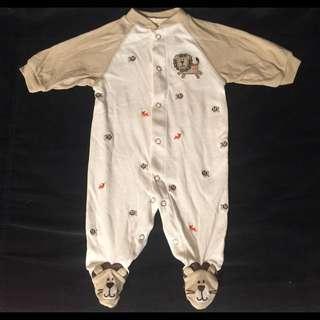 全新出清 美國品牌Carter's 嬰兒/幼兒 包腳衣/連身衣(還另外贈送小襪子)