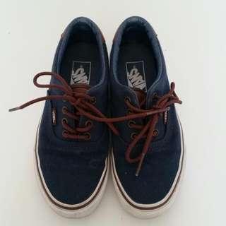 Vans Navy Blue Shoes Sz 5.5