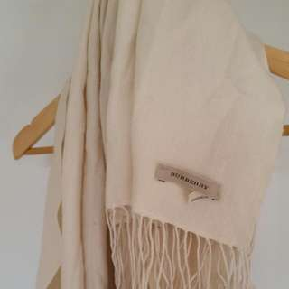 Burberry Silk/wool Cream Pashmina