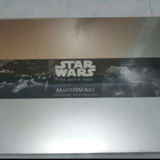 Sealed Star Wars The Movie Saga Lithographic Prints & Etched Badges Collector Set.