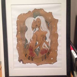 Original And Framed Art Titled White Witches