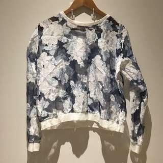 Floral Lace Jumper - Size UK 8