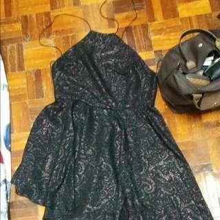 Goddiva From London UK Halter Neck Asymetrical Bareback Dress
