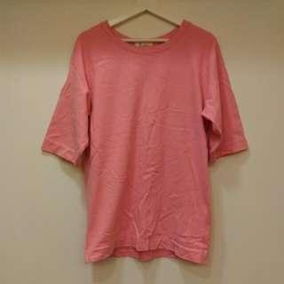 韓製運動風厚棉長版T洋裝
