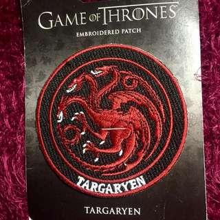 Game Of Thrones Targaryen Patch