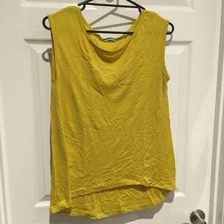 Kookai Mustard Wool Knit Tank