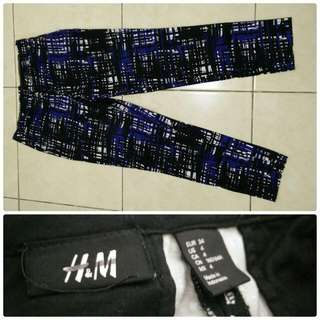 H&M Blue Abstract