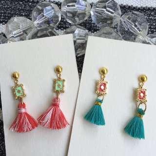 *NEW* Handmade Tassel Drop Earrings With Ace