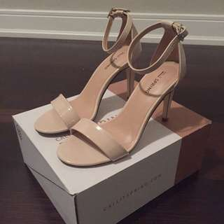 Classic Nude Strapped Heels