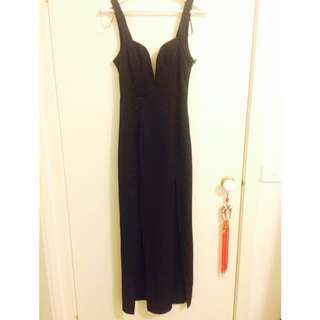 NIKA BLOSSOM Formal Black Dress