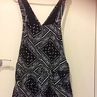 Stussy Black & White Overall/Playsuit (price Negotiable)