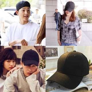 🚚 韓國光板復古純色男女情侶鴨舌帽 棒球帽 嘻哈街舞帽