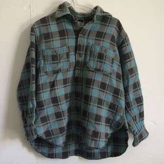 Green Flannel-style Shirt