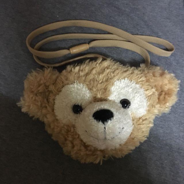 (免運)可愛達菲熊側背零錢包