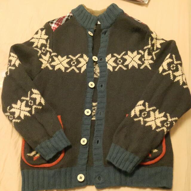 針織保暖外套