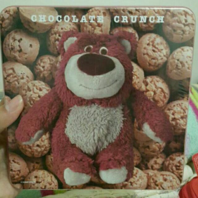 香港迪士尼 熊抱哥 鐵盒餅乾