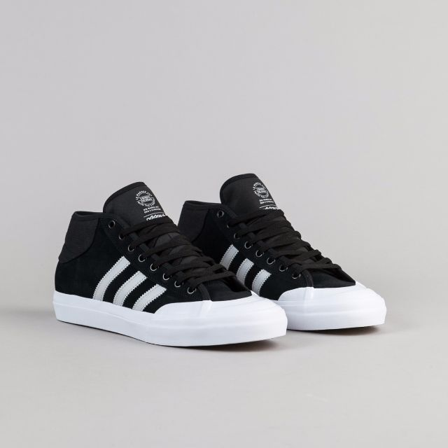 Adidas Matchcourt Mid ADV Shoes - Core Black   Grey   White 149b4fc6f