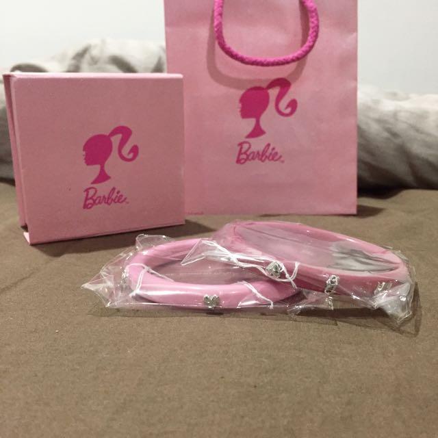 [全新] Barbie 粉色系列手鐲