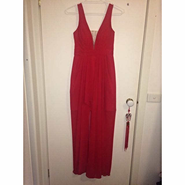 BARIANO Red Formal Dress