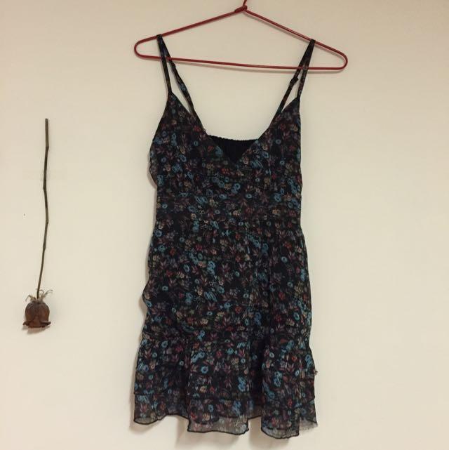 Black Floral Dress Size 10