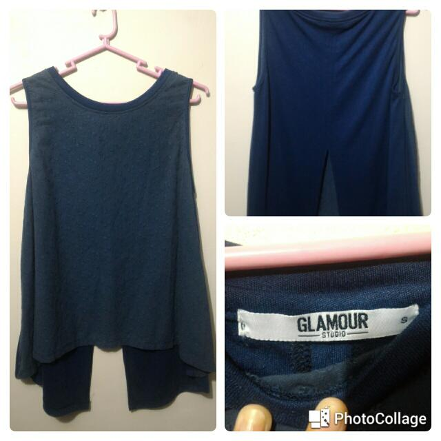 Blue Blouse With Design
