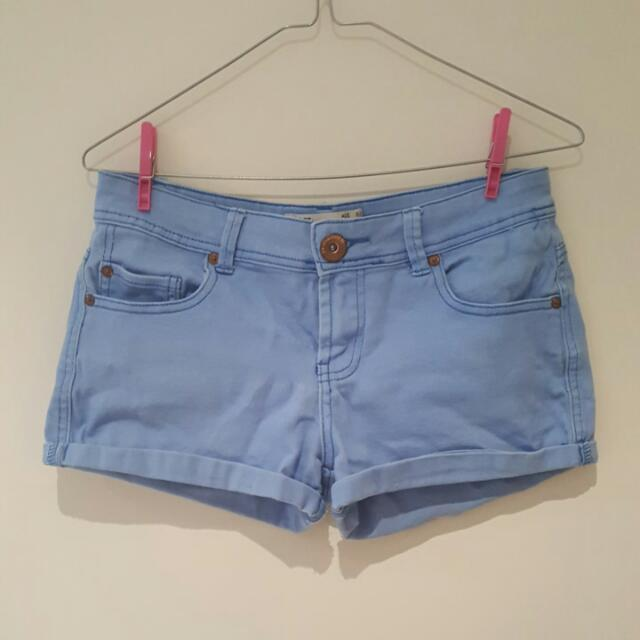 Blue Mini Shorts