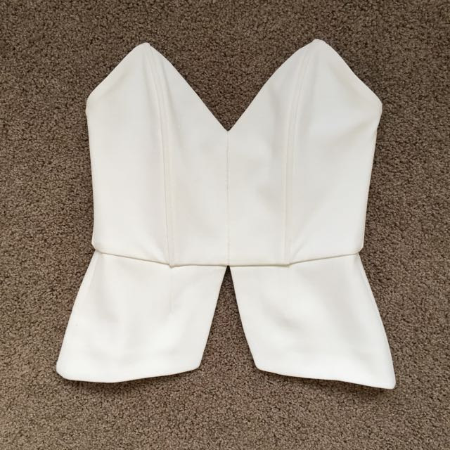 Brand New Piper Lane Strapless Crop Top
