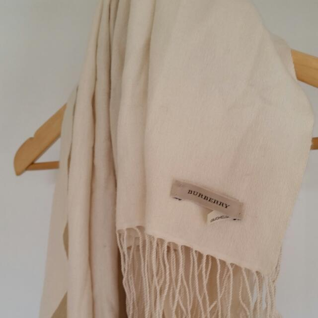 Burberry Silk/wool Cream Pashmina