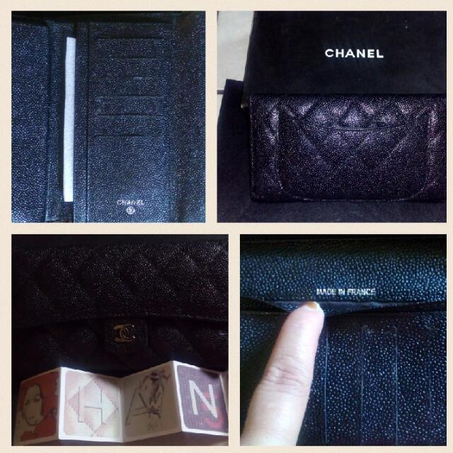 CHANEL Long Wallet Black B' New W/ Carecard & Box HQ Replica
