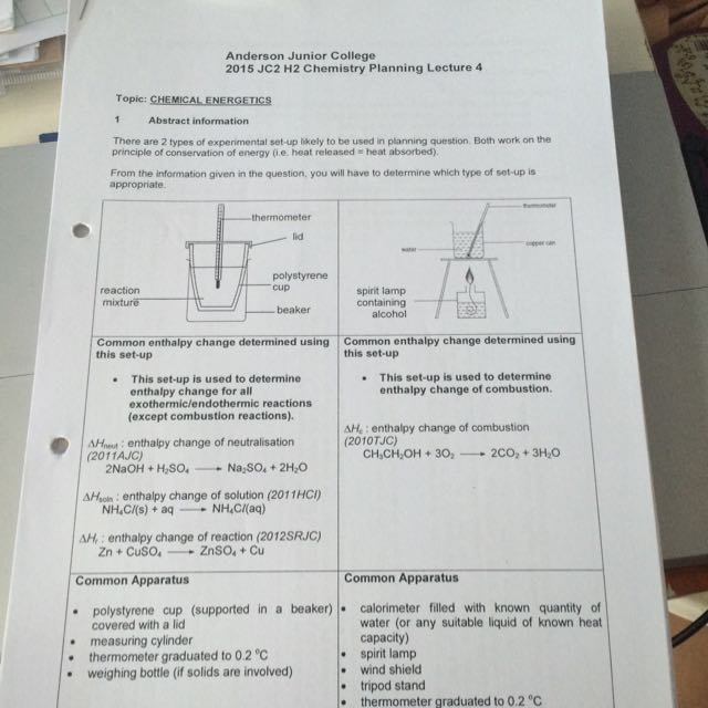 Chemistry Exam Paper And Planning Notes With Full Explanation Answer Keys  From Schools