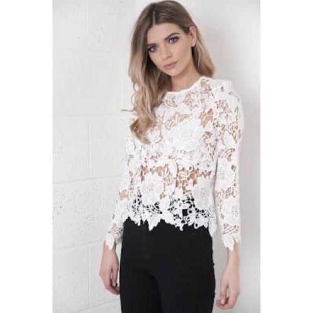 Crochet Long Sleeve White