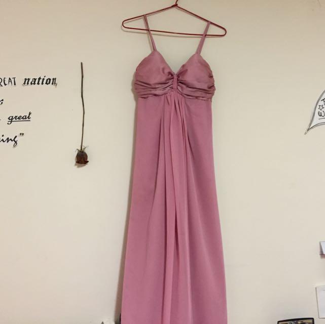 Dark Dusty Pink Formal Dress Size 8