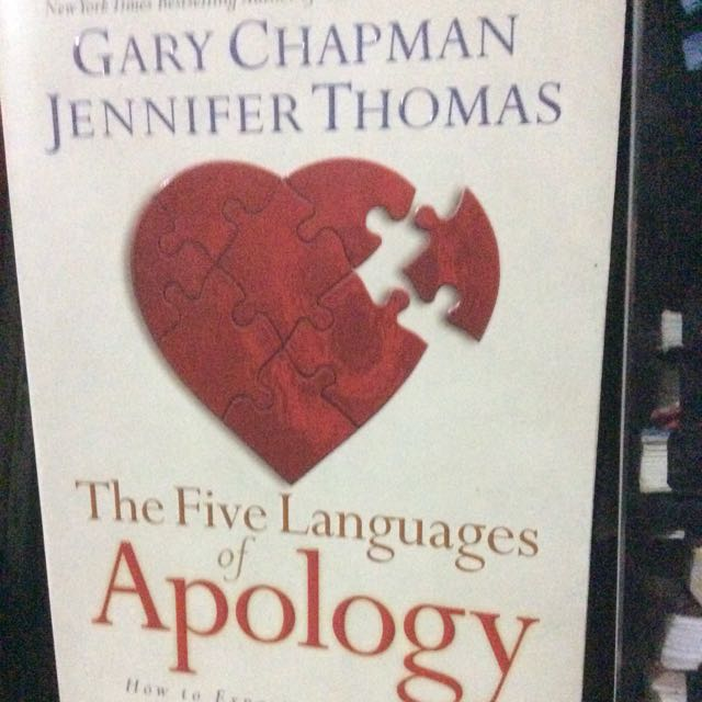 Five Languages Of Apology By Gary Chapman
