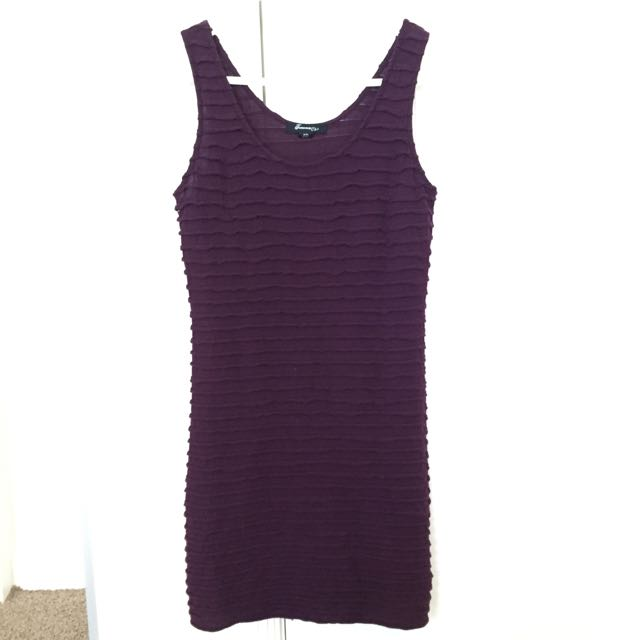 Forever 21 Dark Purple Sleeveless Dress