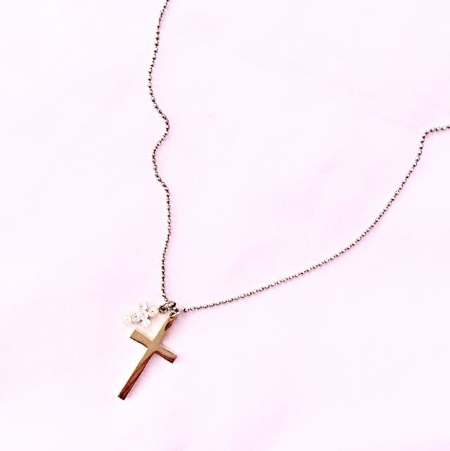 Gold 2-cross Necklace