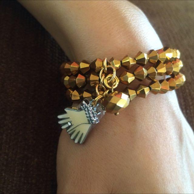 Gold Hands Bracelet