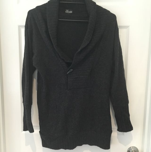 Gripp Jeans Dark Grey Marle Wool Knit