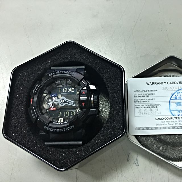 G-SHOCK  智慧型藍芽手錶 GBA400-1A